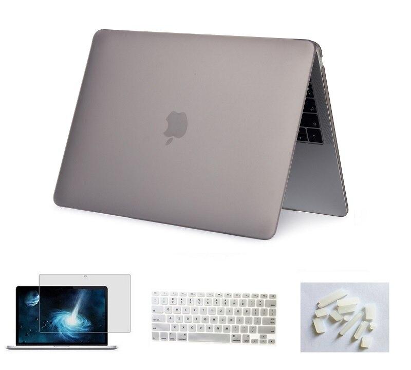Матовый чехол для ноутбука Apple Macbook Pro retina Air 11 12 13 15 дюймов для Macbook Air13 A1932, Pro 13 15 A1989 A1990 - Цвет: Grey
