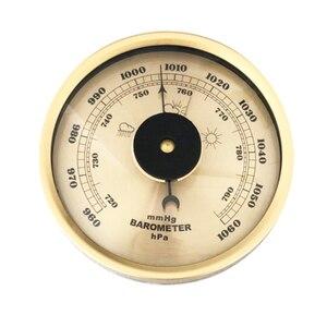 Image 2 - 7.2 بوصة 180 مللي متر خشبية قاعدة الحائط المنزلية بارومتر ميزان الحرارة رطوبة الطقس محطة شنقا