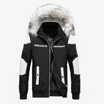 Outwear Coat Winter Long Jacket Men Fashion Fur Collar Hooded Parkas Mens Casual Thick Warm Windproof Hoodies Brand Clothing