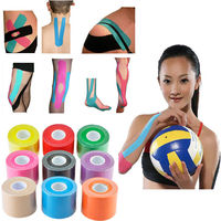 3PCS Roll 5cm X 5m Sports Muscle Stickers Tape Cotton Medical Glue Elastic Adhesive Muscle Bandage