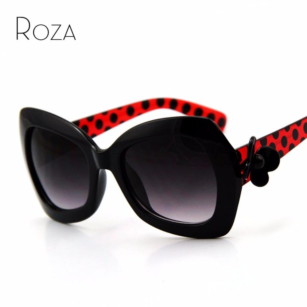 ROZA Flower Decoration Brand Design Sunglasses Women ...