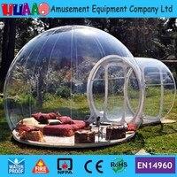 М Бесплатная мм доставка 0,8 мм ПВХ 6*4 м прозрачный надувной пузырь палатка с бесплатной CE/UL воздуходувки и мешок Ремкомплект