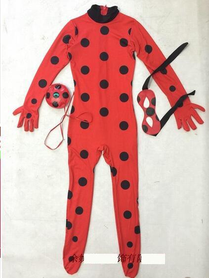 Kids women girls Miraculous Ladybug cosplay costume cat noir cute ladybug romper suit miraculous costumes marinette NL140