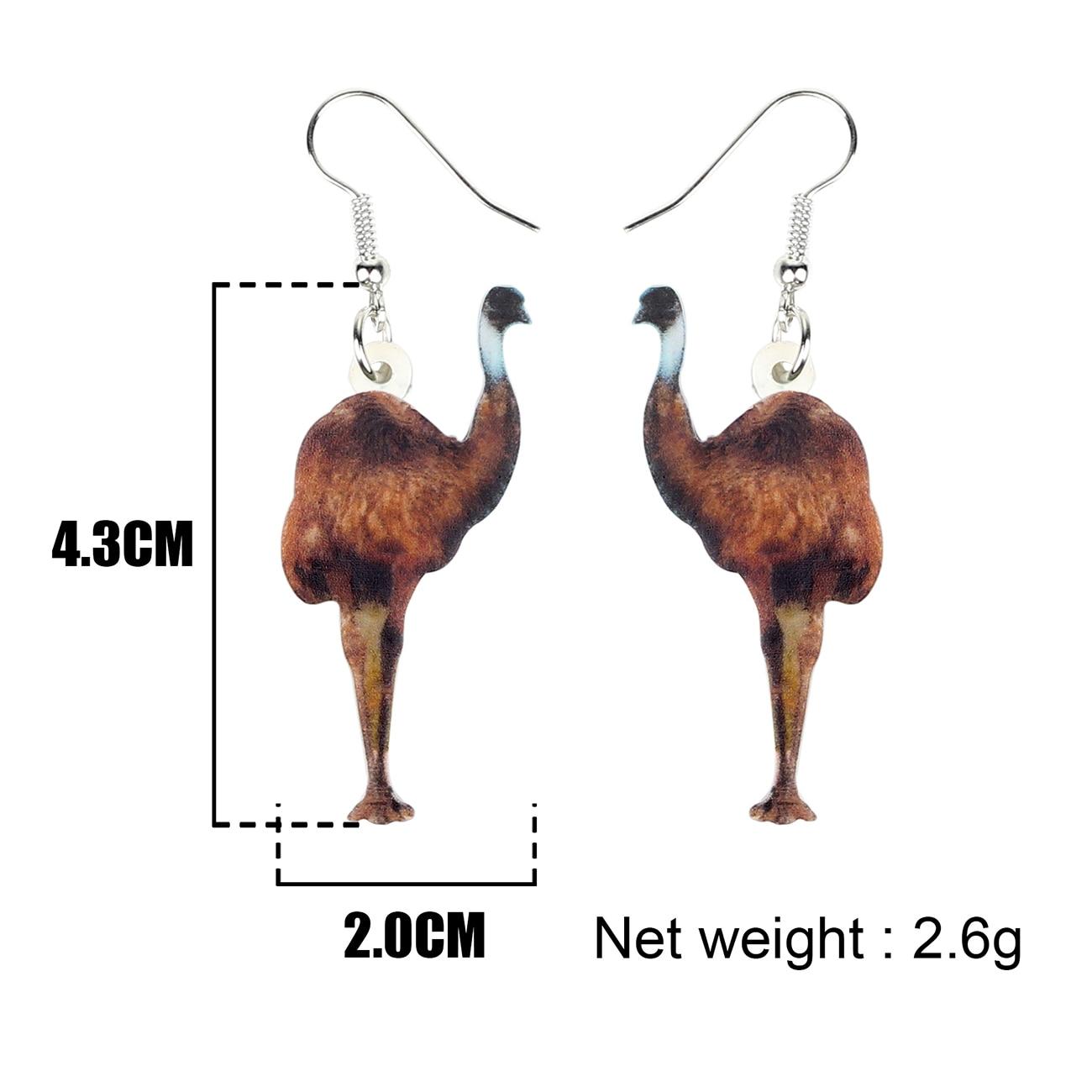 Emu Bird Earrings 4