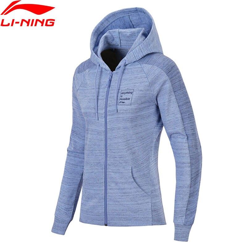 Li Ning Women FZ Knit Hoodie Sweaters Zip Regular Fit Comfort Jacket Fitness LiNing Sports Sweater