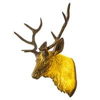 Cafe Hair Art Engineering Wall Lamp Living Room Bedroom Bedside Wall Headlights Resin Animal Deer Head