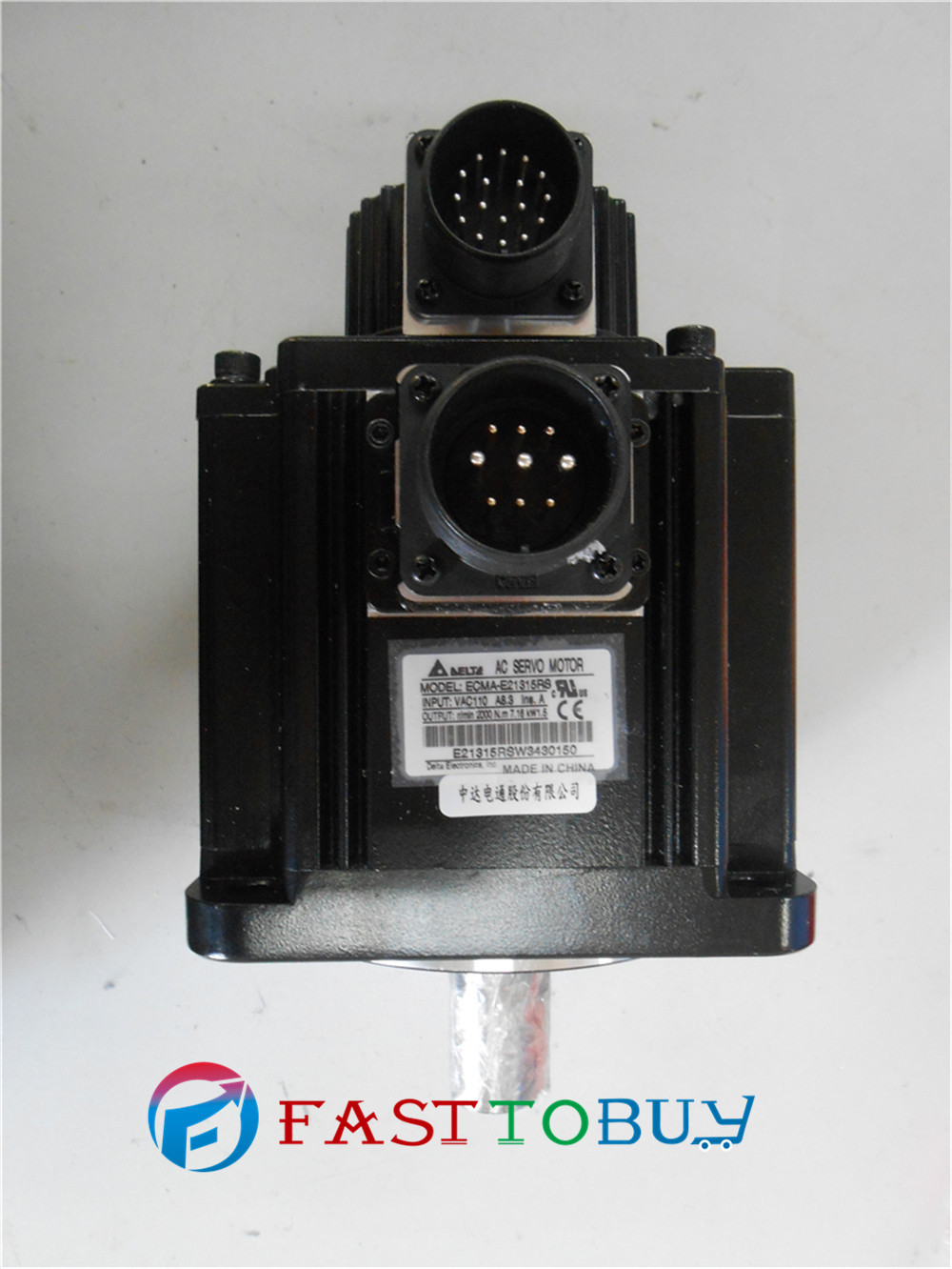 ECMA-E21315RS Delta 130mm 1.5kw 1500w AC Servo Motor 220V 7.16NM 8.3A 2000r/min with Keyway Oil Seal Orignal New цены