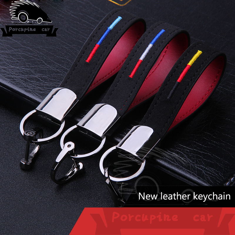 Car key chain leather key holder keychain for Mercedes BMW Audi VW Toyota Honda Peugeot Citroen key chain alloy auto accessories car keychain key ring pendant metal alloy logo car emblem keyrings for vw audi toyota universal benz bmw car styling accessories