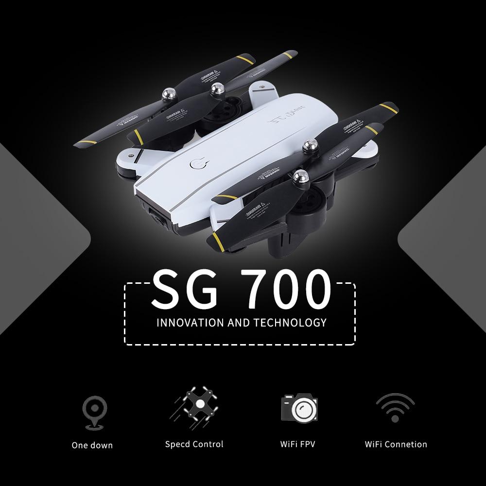 720 P SG700 Радиоуправляемый Дрон с Камера/без Cam Wi-Fi FPV Складная селфи Дрон высота Удержание Безголовый жест Управление Дрон vs E58 SG900