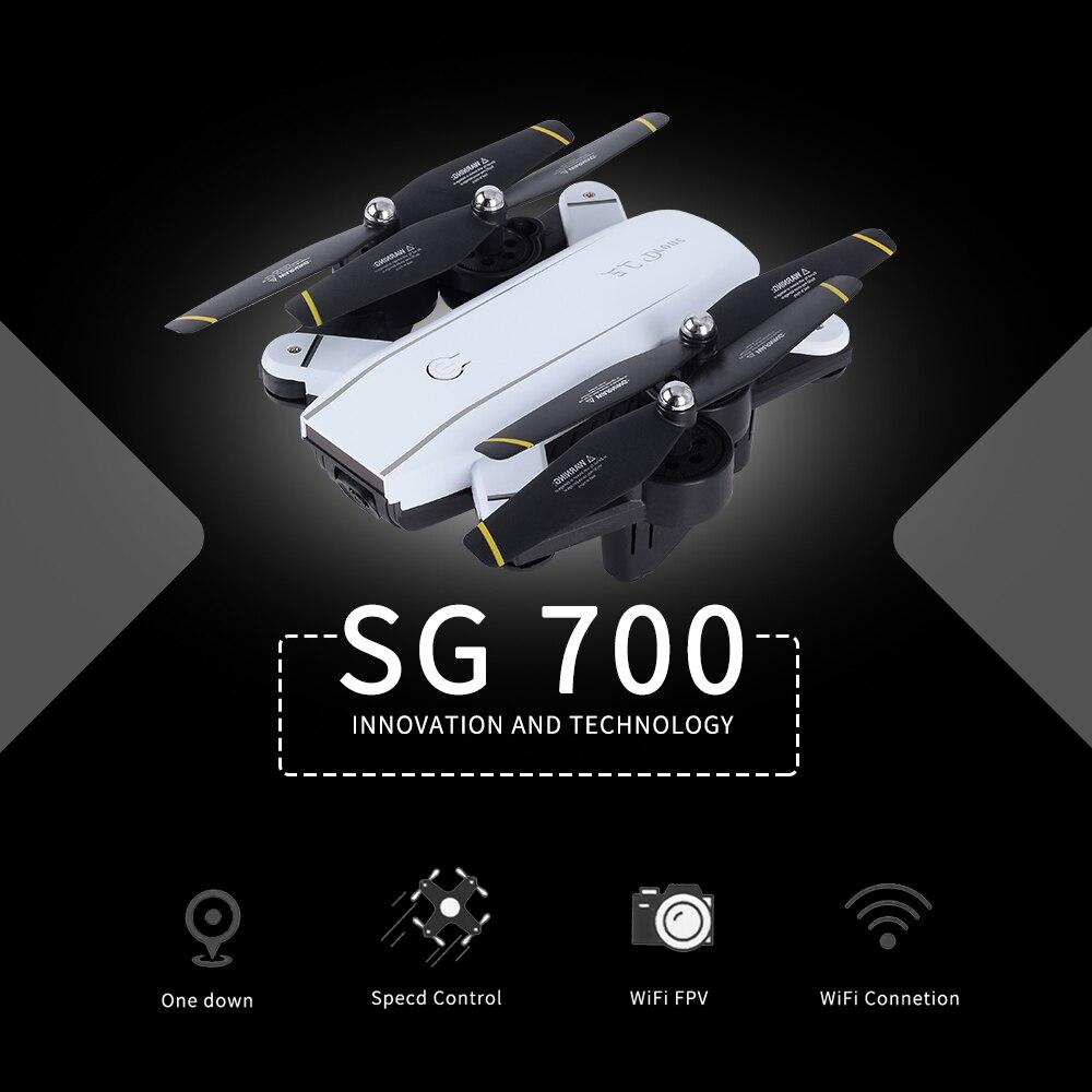 720 p SG700 Rc Drone Avec Caméra/No Cam Wifi FPV Pliable Selfie Drone Maintien D'altitude Sans Tête Geste Contrôle dron vs E58 SG900