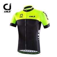 CHEJI Cycling Jersey High Visibility Men S Bike MTB Shirt Top Fluorescent Green