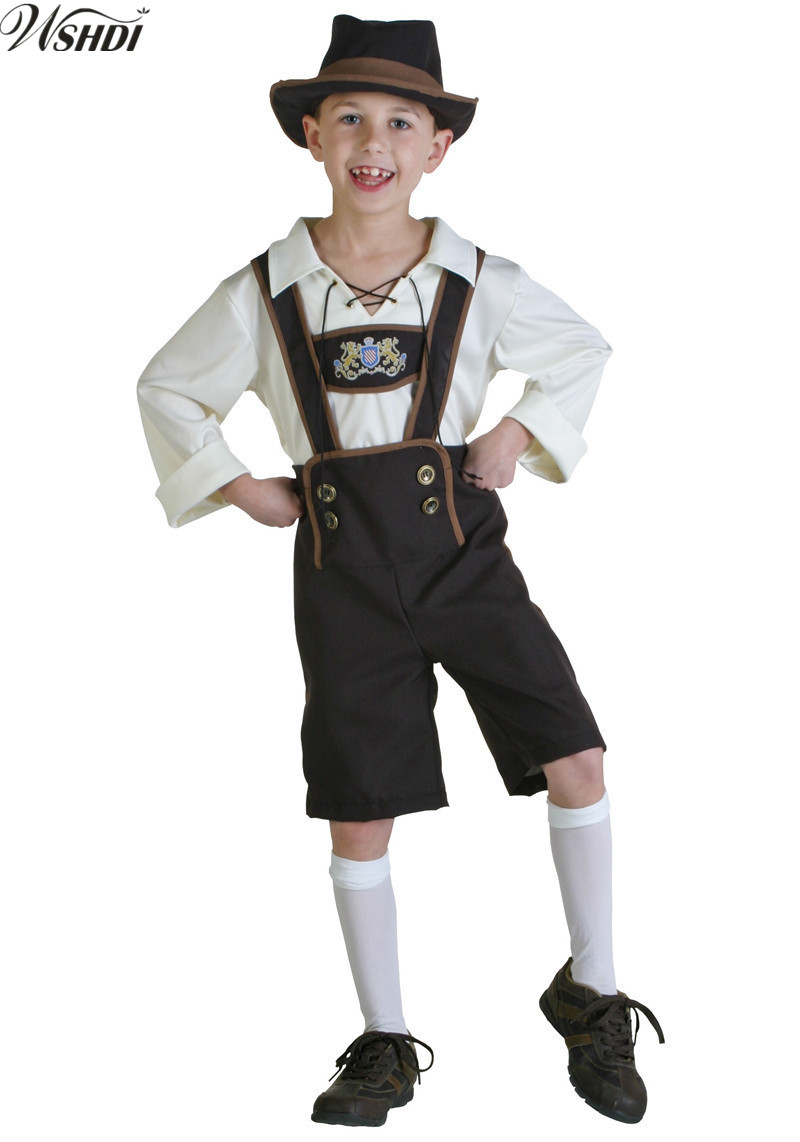 S-XL Children Oktoberfest Costume Bavarian Octoberfest German Festival Beer Cosplay Halloween Costumes for Kids