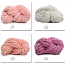 250g Blended yarn Korea Super coarse wool Icelandic Large thickness hat line rough baby scarf coat New QW018