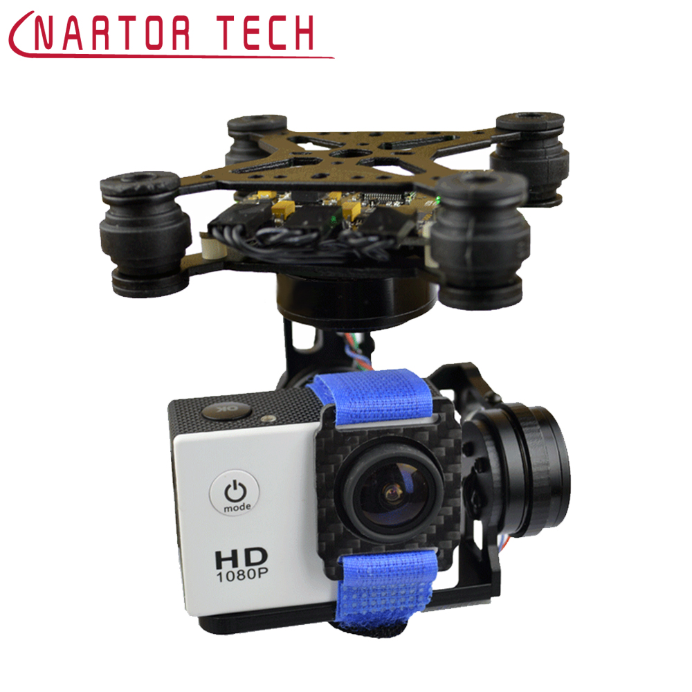Nartor Storm32 3-Axis Brushless Gimbal for Gopro3 / Gopro4 FPV Accessory Camera Platform for FPV Drone fpv 3 axis cnc metal brushless gimbal with controller for dji phantom camera drone for gopro 3 4 action sport camera only 180g