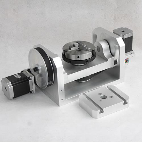 ЧПУ ось вращения шпинделя с K01 100 челюсти оправки для мини ЧПУ фрезерный станок, деревообрабатывающаая машина запчасти FAI да TE
