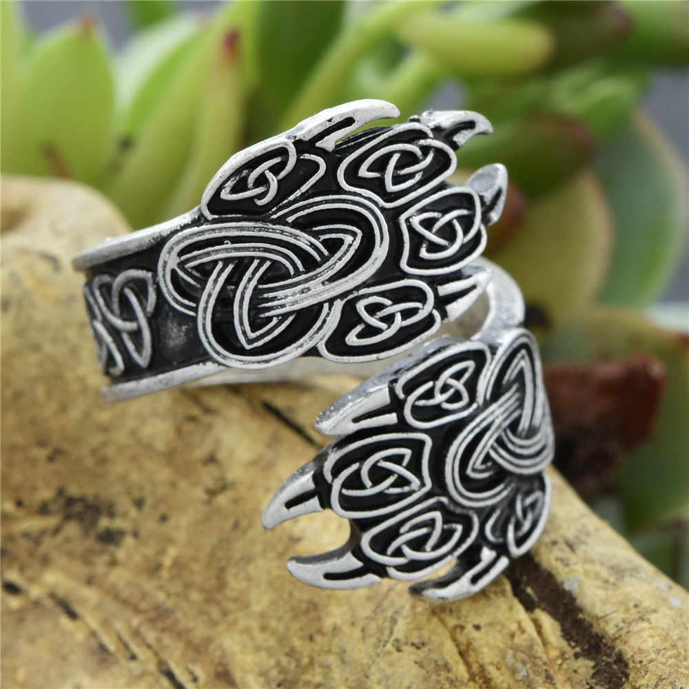 Anillo señal de Dios anillo Norse nudo Anel Slavic vegvizir hombre punto Signet joyería mejor amigo Envío Directo