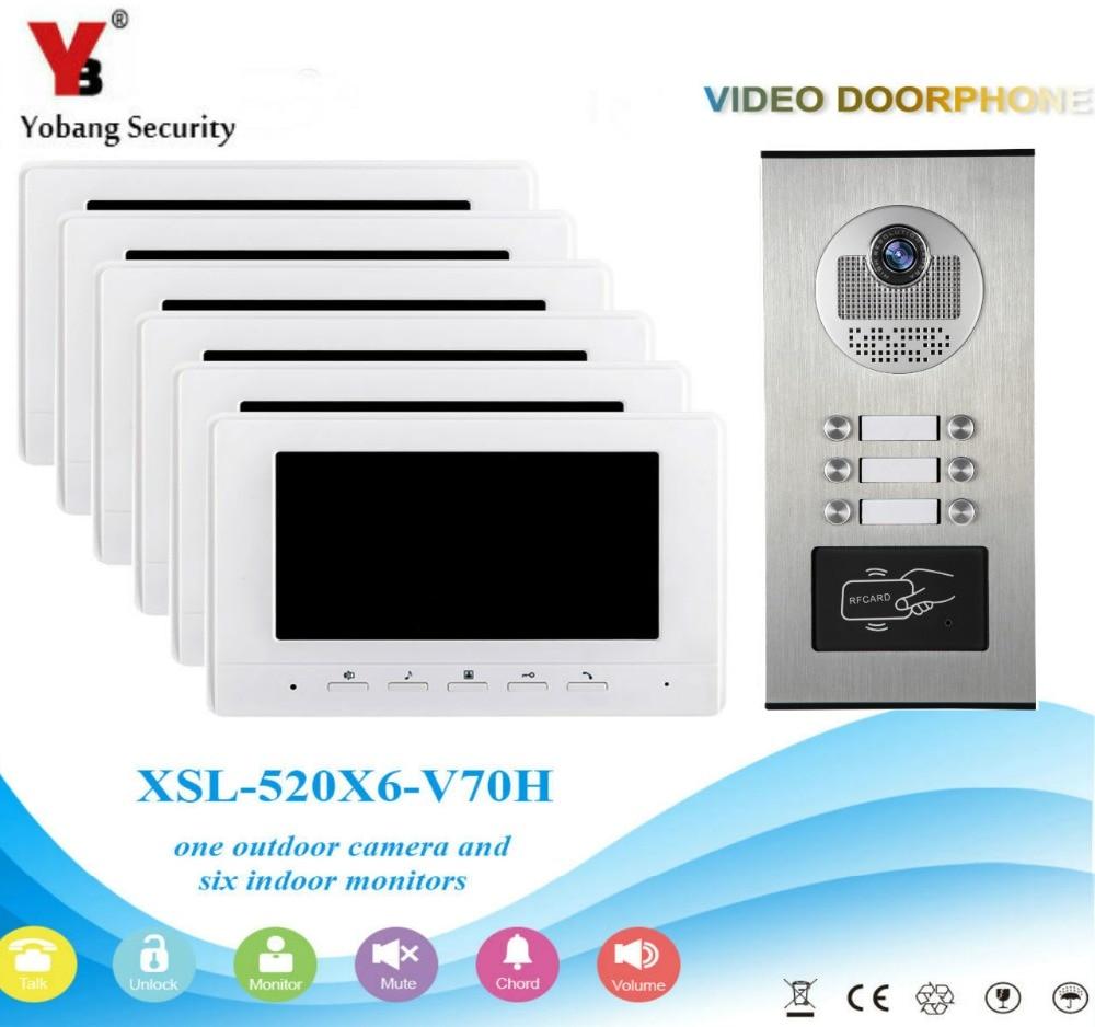 Sicherheit & Schutz Video Intercom Genossenschaft Yobang Sicherheit Verdrahtete 7 Zoll Lcd Video Intercom System Video Türklingel Monitor Intercom Unterstützung Überwachung Dual-weg Tür Intercom