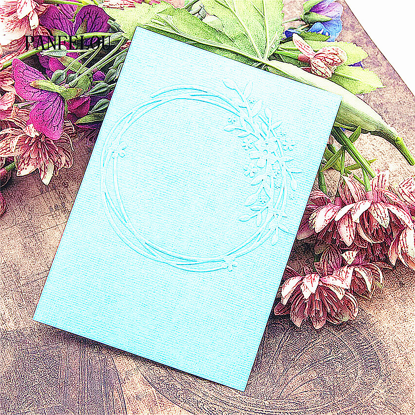 HOT Plastic Clock Template Round Lace Craft Card Making Paper Card Album Wedding Decoration Embossing Folders