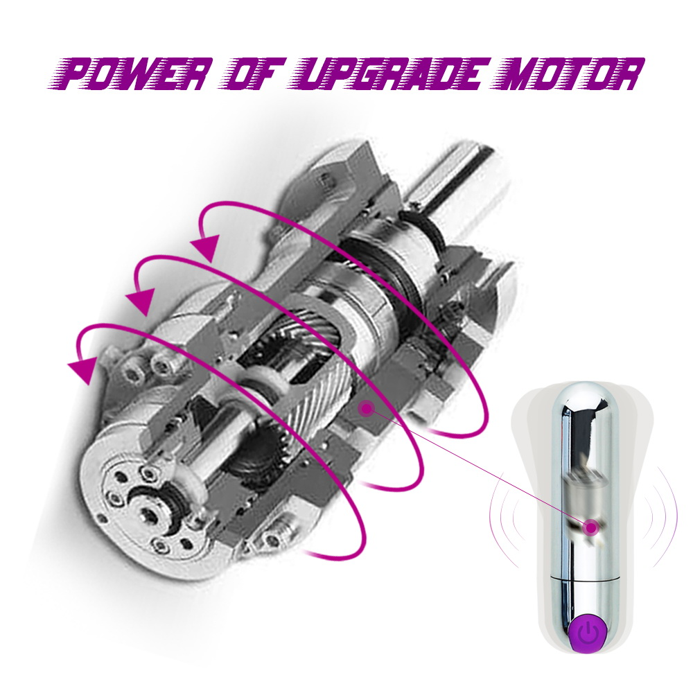 Rechargeable Strong Adult Sex Product USB vibrator,  10 Speed Vibrating Mini Bullet Shape Waterproof Vibrator G-spot Massager (6)