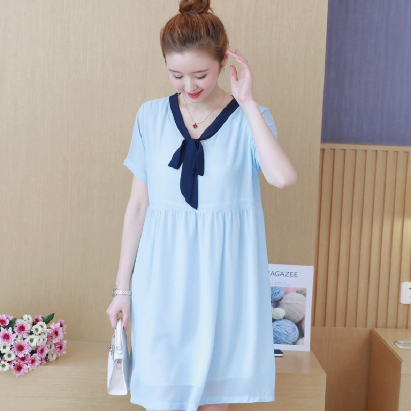 Новый летний одежды для беременных Платья для беременных беременности женщины платья кач ...