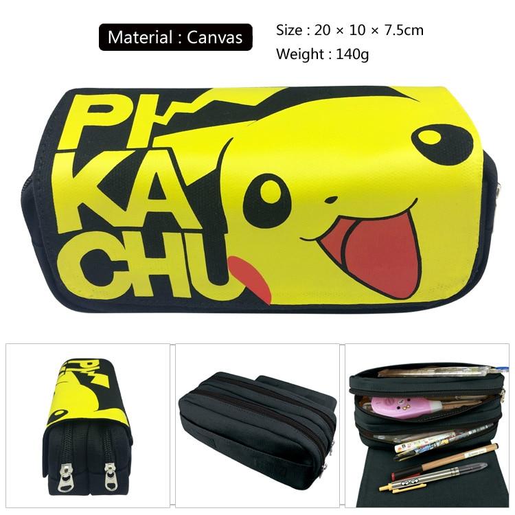 Cartoon Pokemon Pencil Case Pikachu Go Poke Ball Pen Bag School Supplies Canvas Makeup Bags Zipper Bag Women Cute Handbags Gift