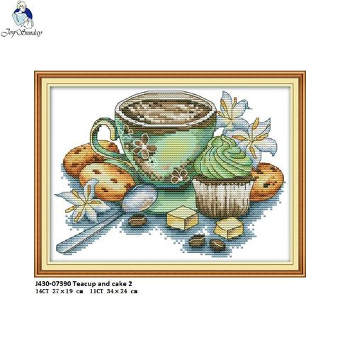 Joy Sunday Cross Stitch kits Afternoon Tea Series DMC 14CT 11CT Cotton Fabric Hotel Home Decor Painting NKF Factory Wholesale Karachi