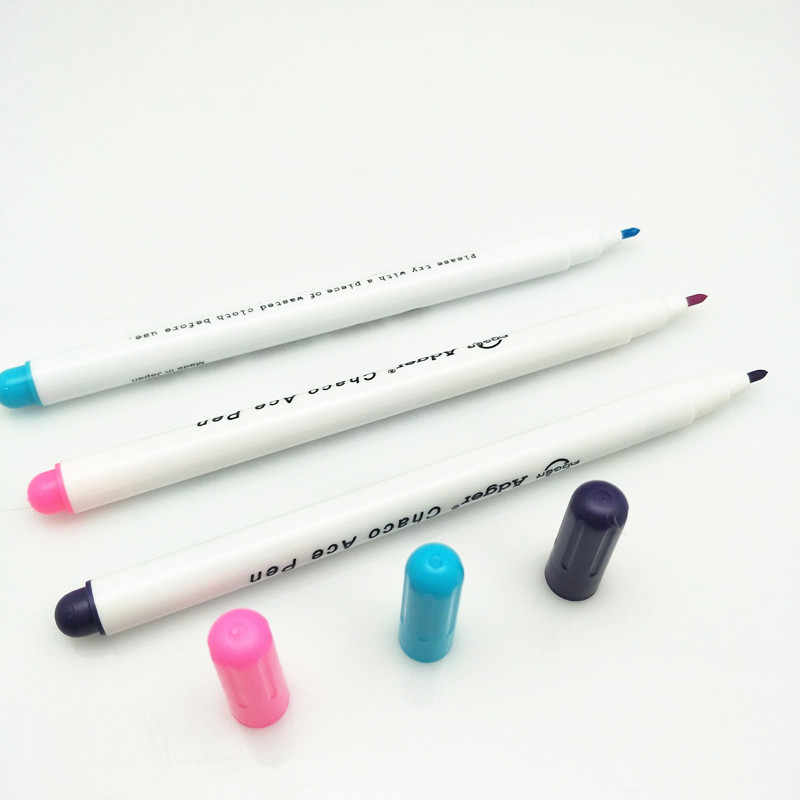 3PC Water Pens Fabric Markers Soluble Cross Stitch Markers Ink Patchwork Marking Color Stationery Office BB5545