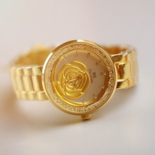 BS Brand Women Quartz Watch  Fashion Luxury Crystal Watches Rose Gold Shinning Diomand  Bangle Bracelet  Clock Montre Femme 2017