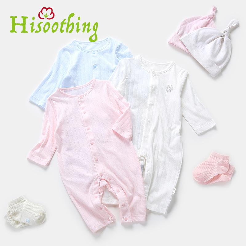 Newborn Clothing Autumn Long Sleeved Jumpsuit Romper Baby Romper Suit Thin Cotton Casual Climbing 2018 new baby girls rompers spring autumn long sleeved kids jumpsuit newborn pajamas baby boy clothing cotton baby romper
