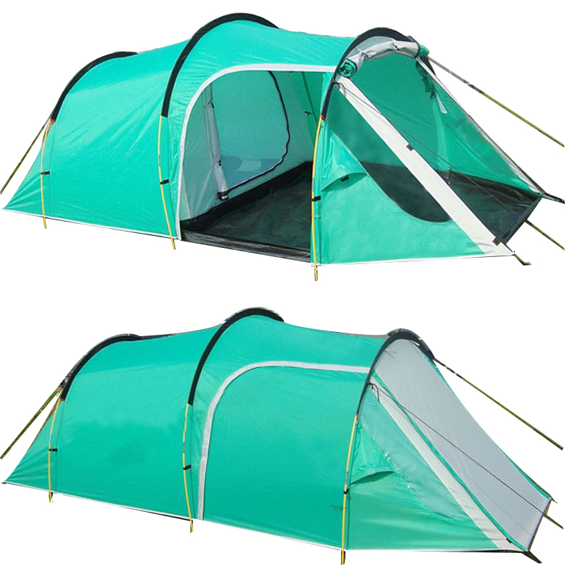 цена Outdoor Camping Tents Family Party Travelling Tent 3-4 Persons Mountain Tent One Bedroom & One Living Room Waterproof Event Tent