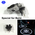 2pcs LED Car Door projector Light Glowing Logo Projection For Mercedes-Benz W203 C Class SLK CLK SLR Auto Welcome DOOR Light 12V