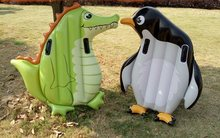 outdoor inflatable toys Giant Penguin Crocodile Inflatable Childrens Summer Beach Kids Outdoor Floating Mat Boat Toy Swimming
