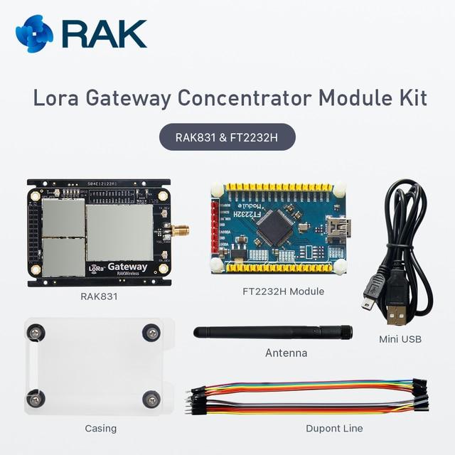 Lora шлюз концентратор Комплект модуль, RAK831, на базе SX1301, 433/470/868/915 мГц, Беспроводной распространения спектр передачи