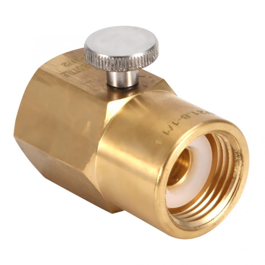 Brass Household Soda Bottle CO2 Connector Adapter for Filling Soda W21.8 to G1/2(China)