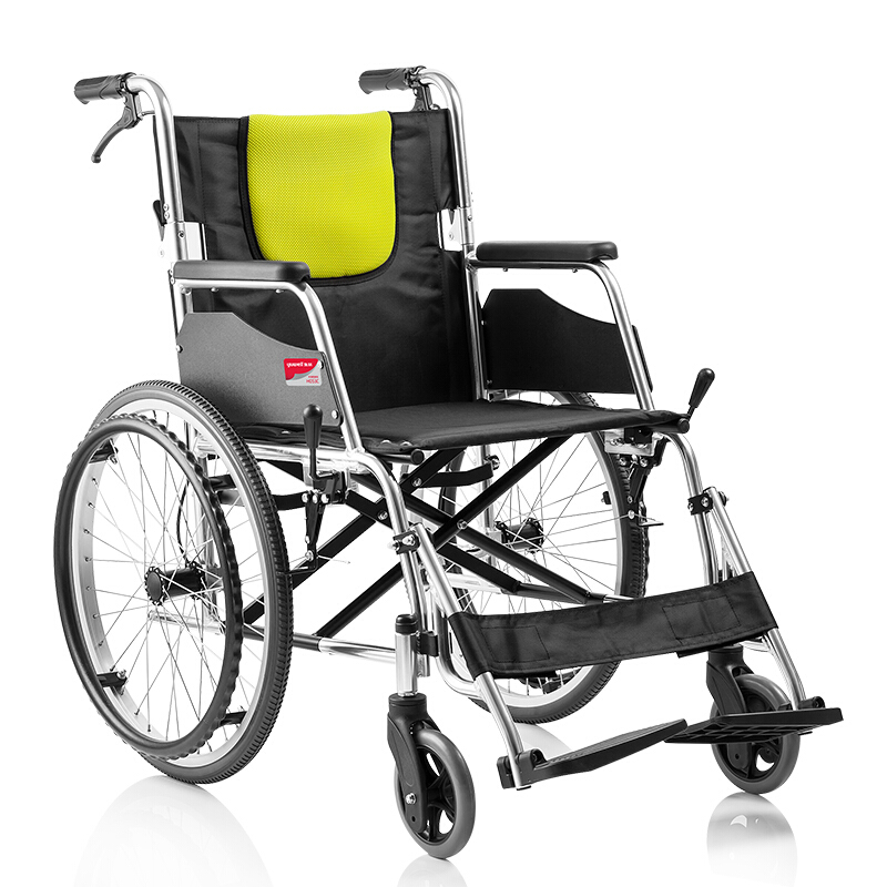 yuwell Handicapped Wheelchairs for Elderly Folding Portable Wheelchairs for The Disabled Light Aluminium Disable Wheelchair H053 cheap price folding lightweight manual wheelchair for handicapped and elderly