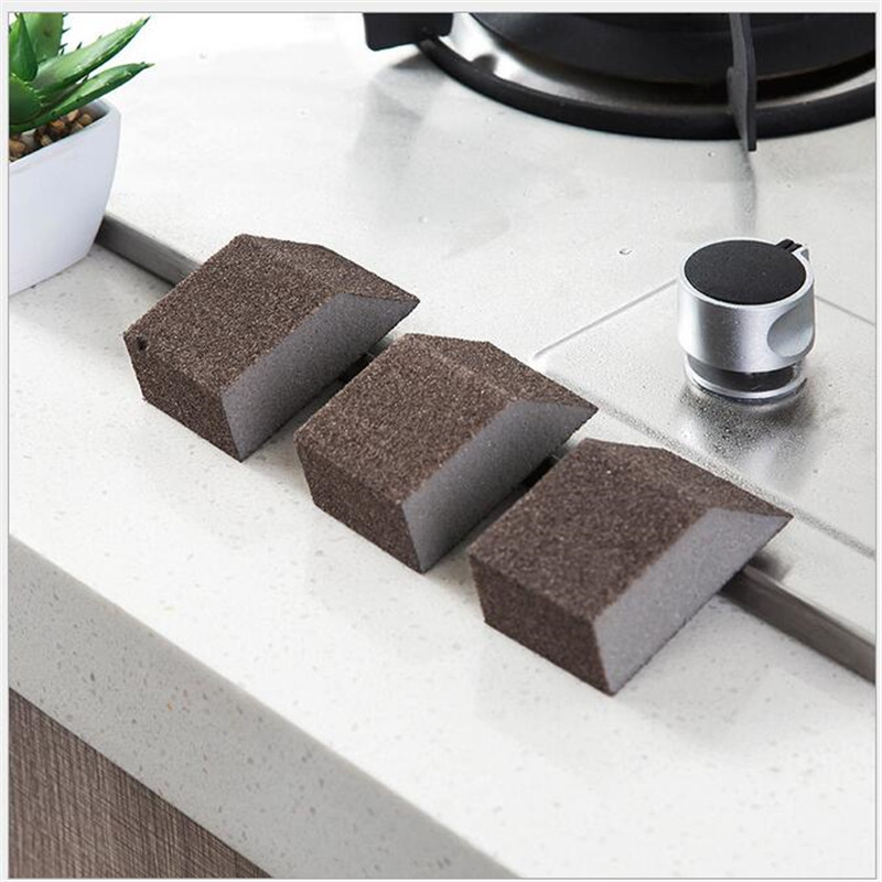 3PCS Portable Mini Clean Emery Decontamination Sponge Dishwashing Cleaning Sponge Artifact Kitchen Tool Clean crevice-in Sponges & Scouring Pads from Home & Garden