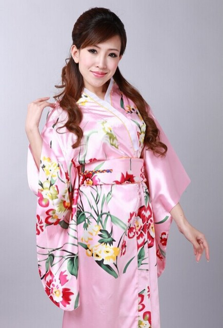 New Brand Vintage Satin Women Gowns Peacock Printing Silk Kimono Robes Cosplay With Belt Japanese Yukata Bridesmaid Robe Dress