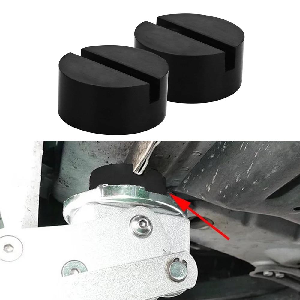 JEAZEA 2PCS Car Rubber Disc Pad Car Vehicle Jack Pad Frame Protector Rail Floor Jack Guard Adapter Tool Jacking Lifting Disk