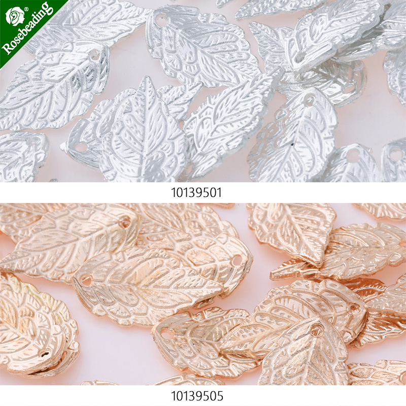 50pcs 17x10mm Alloy/Metal Pendant accessories,Diy Handmade Alloy/Metal leafDIY,Alloy leaves charm alloy
