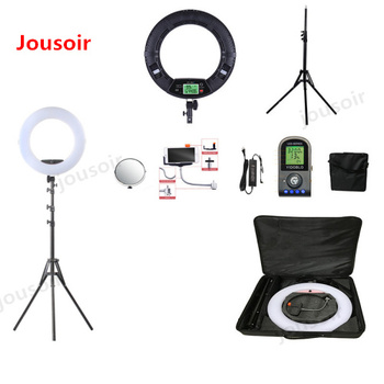 FE-480II Bio-color Ring Lamp 480 LED Lamp Photography Beauty salon nail Makeup selfie Lighting + stand+bag + batter CD50