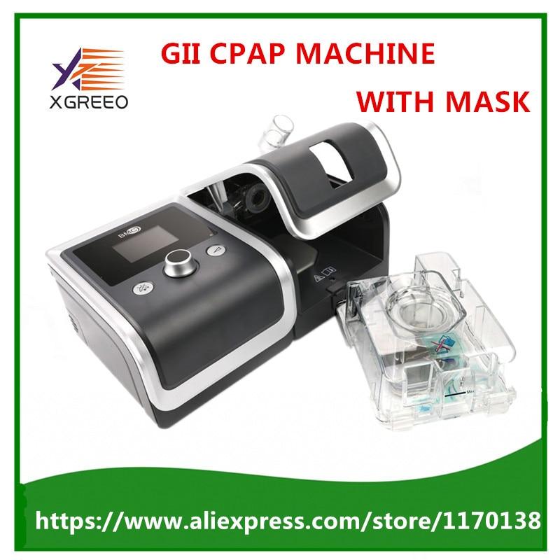 GII CPAP MACHINE avec masque, humidificateur, étui de transport, filtre, carte SD, cordon d'alimentation pour le sommeil ronflement soins de santé à domicile