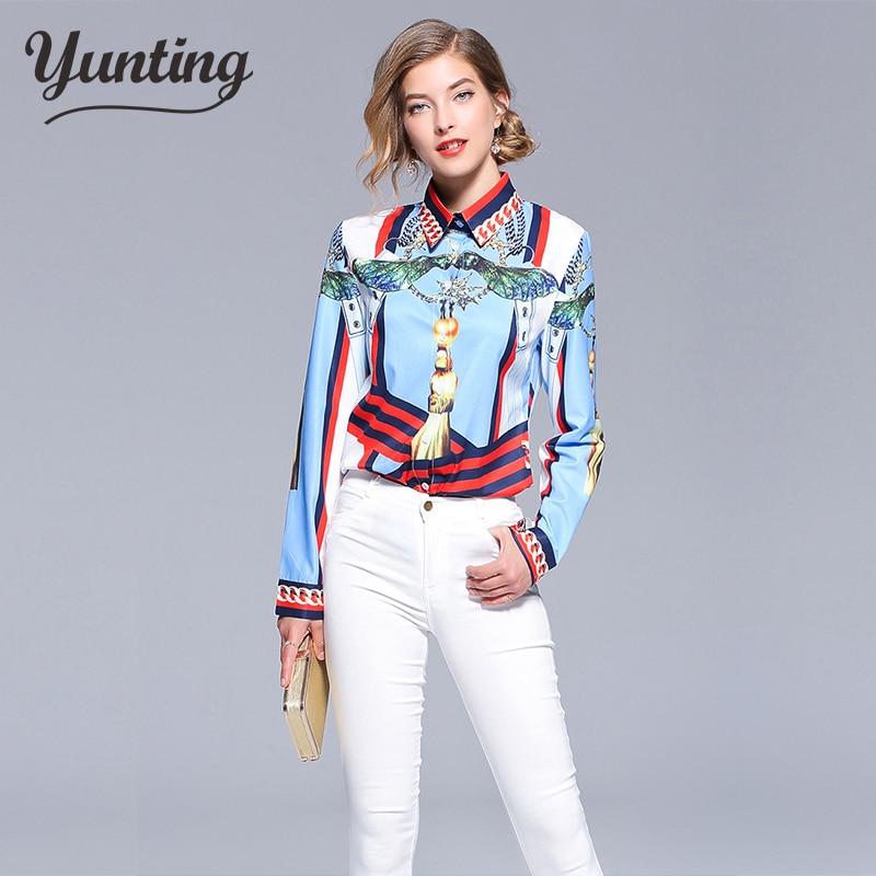 2018 Herbst Sommer Langarm Frauen Blusen Vintage Print Bluse Seide Tops Seide Shirts Satin Top Körper Büro Shirt