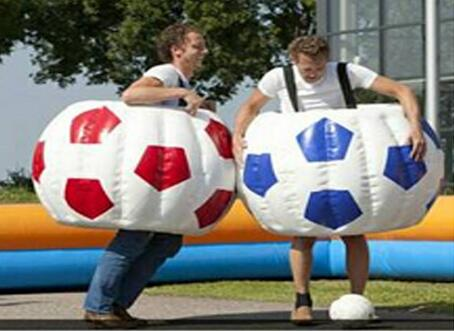Nifty Inflatable Body Bopper Set Sensory inflatable ball outdoor child bucket bumper ball soccer pattern