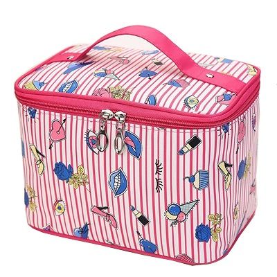 New Flamingo Cosmetic Bag Necessaire Travel Organizer Make up Box Toiletry Kit Wash Toilet Bag Large Waterproof Pouch ZDH022
