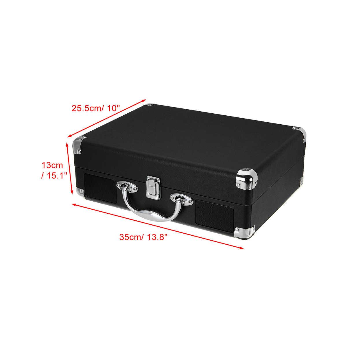 البلاستيك الخشب الرجعية 33/45/78 دورة في الدقيقة بلوتوث PH/ INT/ BT 2.0 حقيبة القرص الدوار الفينيل LP سجل الهاتف لاعب 3 سرعات 3.5 مللي متر AUX في