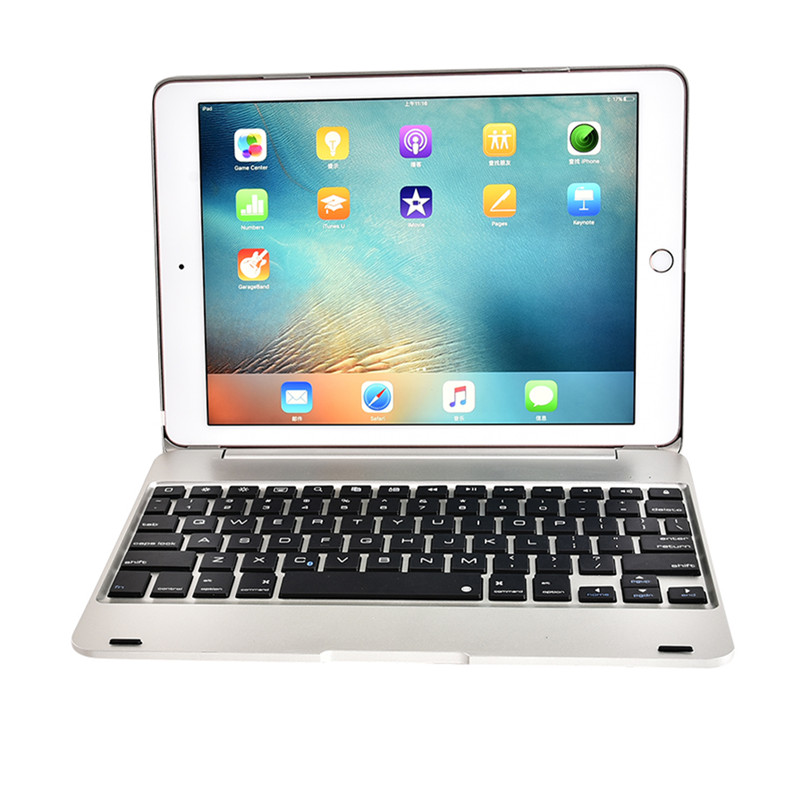 Luxury Smart Case for iPad Pro 9.7'' Wireless Bluetooth Keyboard Case for iPad Air 2 A1566 A1567 Tablet Flip Cover Holder +Gift for ipad pro 10 5 shockproof magnet 2 in1 bluetooth 3 0 wireless keyboard foldable flip case stand cover holder for ipad 2 3 4