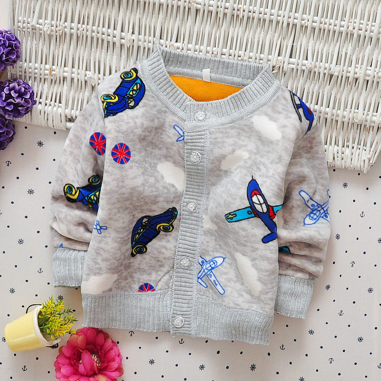 2017 Spring Autumn Boy Cotton Sweaters Baby Kids Warm Clothes 1-2yrs Children Casual Knitted Cardigan Sweaters Infant Tee Blue