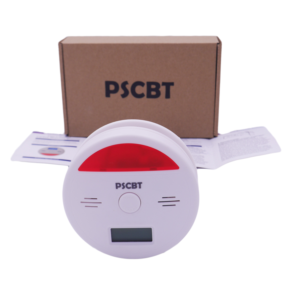 Warning LCD Photoelectric Independent CO Gas Sensor Carbon Monoxide Poisoning Alarm Detector Fire Protection