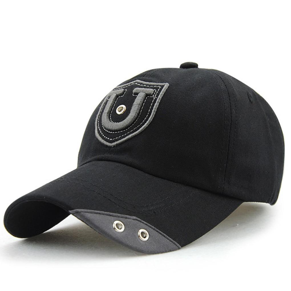 Men Women Embroidery Baseball Cap Rivet Printed Sports Events Team Berets Hat bone para bordar