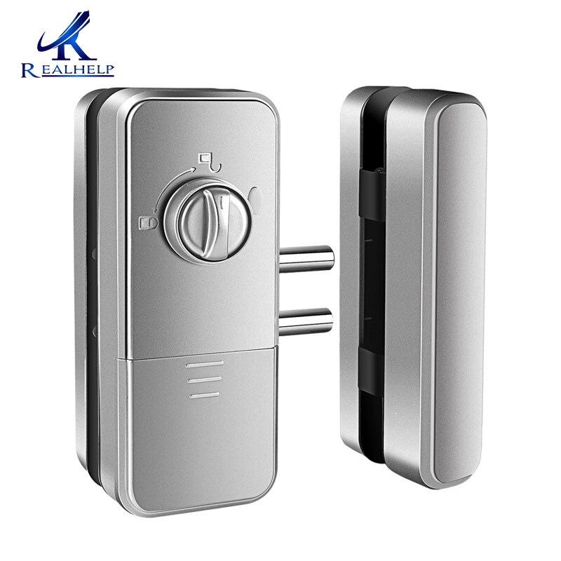 Biometric Fingerprint Lock Double Glass Doors Keyless Biometric